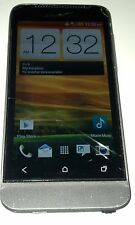 HTC One V 4GB Gray (Cricket) Smartphone Cracked Glass - No Volume - Bad WiFi