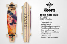 "LONGBOARD DUSTERS COMPLETO 37"" THE DOORS MOJO RISING NATURAL SKATEBOARD"