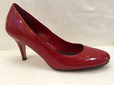 Cole Haan Pumps 7.5 Nike Air Red Patent Leather Round Toe High Heels Women Shoes