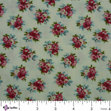 AVONCLIFF - Robyn Pandolph - RJR – Pink Roses Cream QUILTING PATCHWORK FABRIC FQ