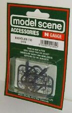 Modelscene N Accessories - Bicycles - 5189 Plastic Figures Railway Models