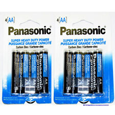8 PCS Panasonic Super Heavy Duty AA Batteries (2 Packs) NEW!!
