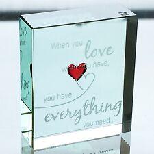 Spaceform Vidrio Love Token diminuto corazón rojo cuando te encanta romántico Recuerdo Regalo