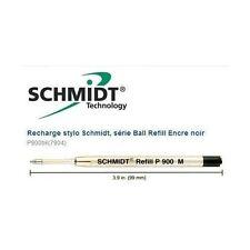 Lot 3 recharges stylo PARKER - SCHMIDT P900 M NOIR pointe moyenne  $$$ tarif 12€