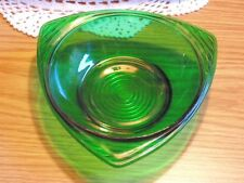 Forest Green Triangle Bowl Mid Century Anchor Hocking