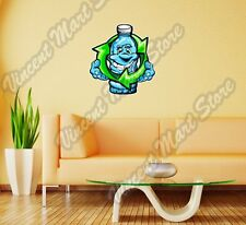 "Smiling Plastic Bottle Recycle Funny Wall Sticker Room Interior Decor 20""X25"""