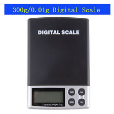 300g x 0.01g LCD Digital Pocket Scale Jewelry Weight Balance Scale Gram Tool New