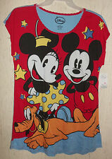 NWT WOMANS Disney Minnie & Mickey Mouse KNIT NIGHTGOWN  SIZE L/XL (14-18)