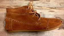 TOMS Suede Ankle Bootie Size 7 Tribal Boot High Top Moccasin  Women's