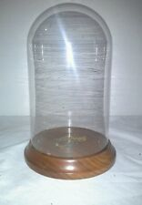 """Glass Display Dome / Cloche with Wood Base - 4"""" x 7"""""""