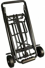 Metal Folding Luggage Cart Up to 75 lbs Rolling Carry Foldable Home Travel Black
