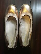 Cole Haan Gilmore Ballet Women US 6, Rose Gold- Pink Metallic Flats Pre Owned