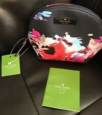 Kate Spade New York Keri Colorful Abstract Floral Cosmetic Case Pouch Bag NWT