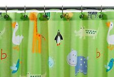 Kassatex Zoo Friends Shower Curtain Kids Bathroom Animals Giraffe Lion Zebra ABC