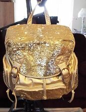 Luxcessories Inc. Gold Sequin Backpack, Bookbag, Purse, Bag. NWTS #228