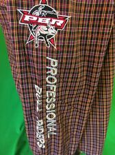 Wrangler Embroidered PBR Bull Riding Plaid  Western Cowboy Shirt Men's M Rodeo