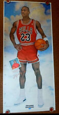 """Michael Jordan Life Size Chicagoland Chevy Dealers Growth Chart Poster (35""""x76"""")"""