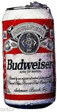 "3"" BUDWEISER BUD BEER CAN BAR ALE  PEEL STICK WALL BORDER CUT OUT STICKER"
