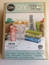 Sizzix DIY Celebrate Gift Tag Bookmark Die Set For Use With The Big Shot