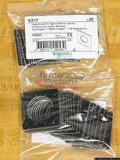 Schneider Elec D KZ17 Legend Plates, Blank, White On Black, Packs of 20, NEW!