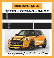 MINI ONE, COOPER, COOPER S ADESIVI KIT 23 TETTO + COFANO + BAULE