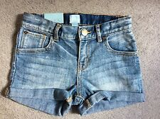 GAP DENIM SHORTS WITH FADED FRONTS & V.SHORT LEGS THAT ARE TURNED UP-12-18m BNWT