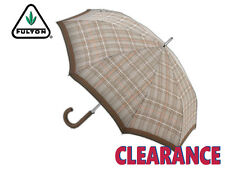 *CLEARANCE NEW* FULTON - SHOREDITCH 2 - UNISEX ADULT UMBRELLA - TWEED CHECK