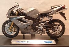 1:18 TRIUMPH 675 675R IN SLATE GREY MODEL! TOY BIKE MOTORBIKE SUPERB DETAIL