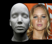 Jennifer Lawrence Life Mask Lifecast Bust Hunger Games X-Men Raven Mystique JLaw