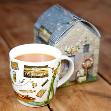 New Churchill China At Your Leisure The Fisherman Fishing Novelty Gift Boxed Mug
