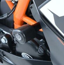 R&G 'NO CUT' AERO STYLE CRASH PROTECTORS for KTM RC125, 2014 to 2016