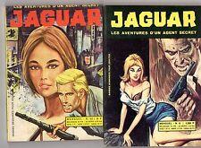 JAGUAR  lot de 2 numéros (9 et 22)  EDITIONS GEMINI ANNEES 1960 TRES RARE