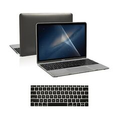 "3 in 1 Black Crystal Case + Keyboard Skin + LCD for New Macbook 12"" Retina A1534"