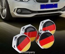 4*Car License Plate Frame Fastener Screw Caps Bolt Covers to German Deutsch Flag