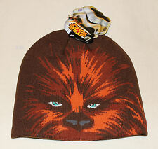 Star Wars Mens Chewbacca Face Acrylic Beanie One Size New Genuine Licensed