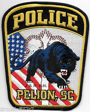 "Pelion, SC new style (4.5"" x 5.5"" size)  shoulder police patch (fire)"