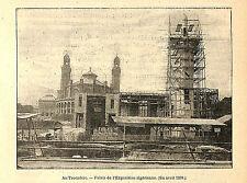 PARIS EXPOSITION UNIVERSELLE WORLD' FAIR PALAIS DE L' ALGERIE IMAGE 1900
