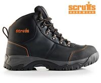 MENS SCRUFFS ASSAULT LEATHER SAFETY ANKLE WORK BOOTS STEEL TOE CAP MIDSOLE SIZES