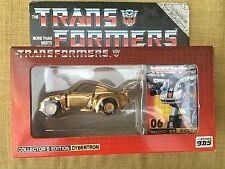 Transformers G1 e-Hobby Jazz Gold 100% Complete. Stickers Unapplied.