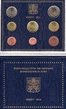 Divisionale monete Euro 1c 2€ FDC Città del Vaticano 2014