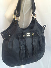 JUST CAVALLI (Roberto Cavalli ) ladies black leather bag / handbag