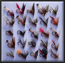 25 MIXED TRADITIONAL WETS FLIES HAND TIED TROUT FISHING FLY for rod reel 12's BN