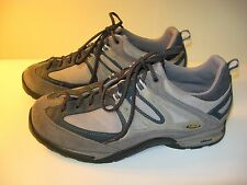 ASOLO Men's Gray Blue Leather Low Hiking Trail Boots Shoes - US 9.5
