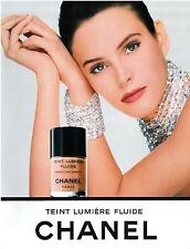 ▬► PUBLICITE ADVERTISING AD Maquillage CHANEL Teint lumière fluide 1992