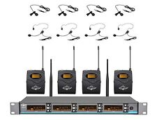 ATL-AUDIO 4CH UHF Digital Pilot Wireless Headset/Lapel Microphone System UGX4Ⅱ