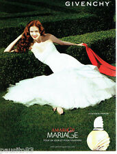 PUBLICITE ADVERTISING 046  2007  Givenchy  parfum femme Amarige Mariage