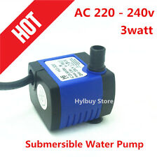AC 220v~240v 220L/H small Submersible Water Pump for Fountain Fish Aquarium