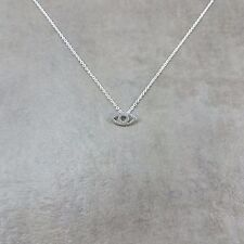 All-Seeing Eye SILVER Plated Necklace Gift Box Illuminati God Symbol Overwatch