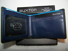 Buxton RFID Men's Thinfold Wallet-Dark Navy