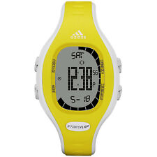 NEW-ADIDAS YELLOW+WHITE DIGITAL POLYURETHANE BAND+CHRONO SPORT WATCH-ADP3113